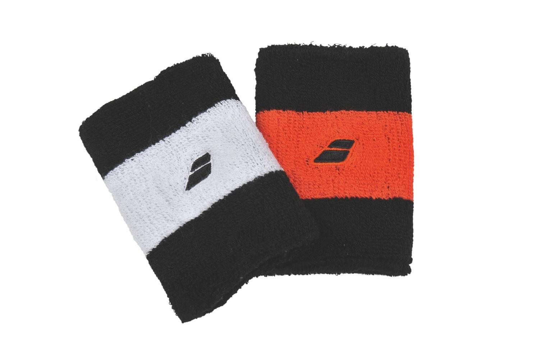 Babolat Reversible Jumbo Wristband X2 Black/Orange 2014