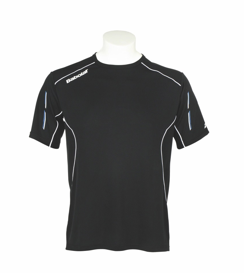 Babolat Tee-Shirt Boy Match Core Black 2015 140