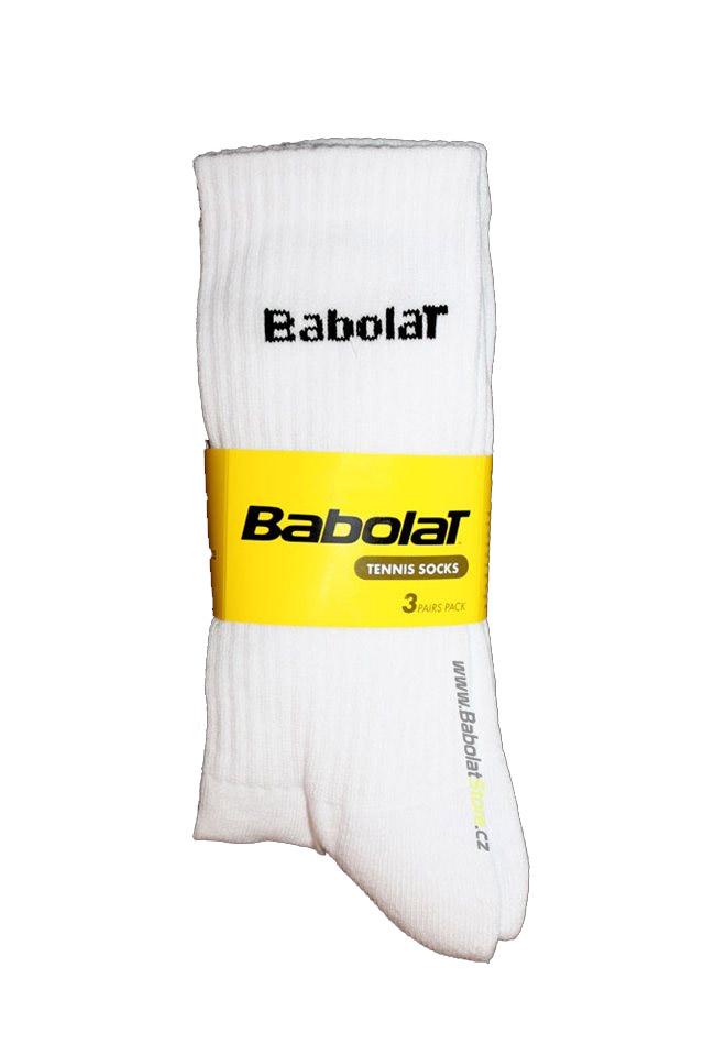 Babolat ponožky bílé - 3 páry 47/50