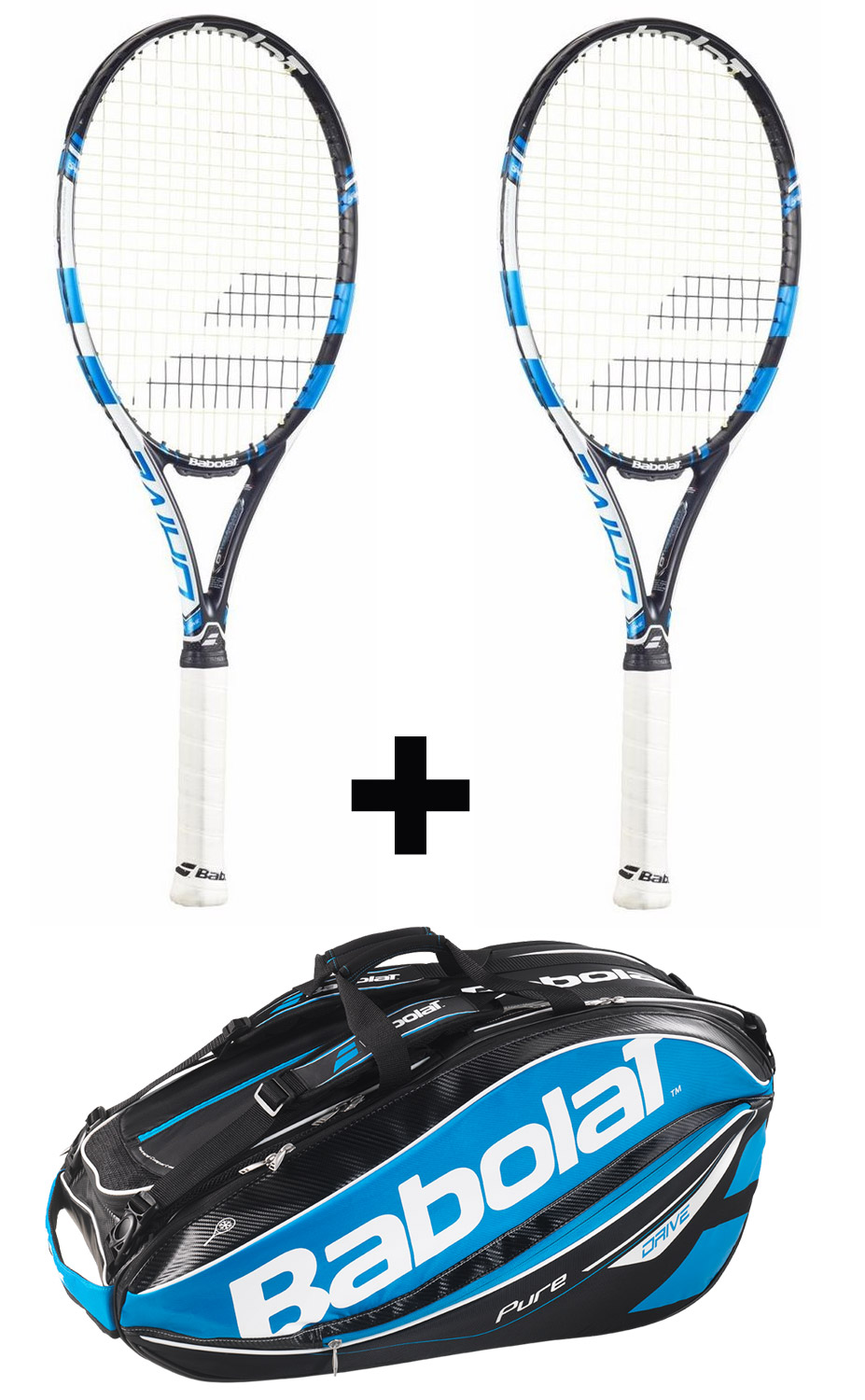 2ks Babolat Pure Drive GT + Babolat Pure Drive Racket Holder X12 G2