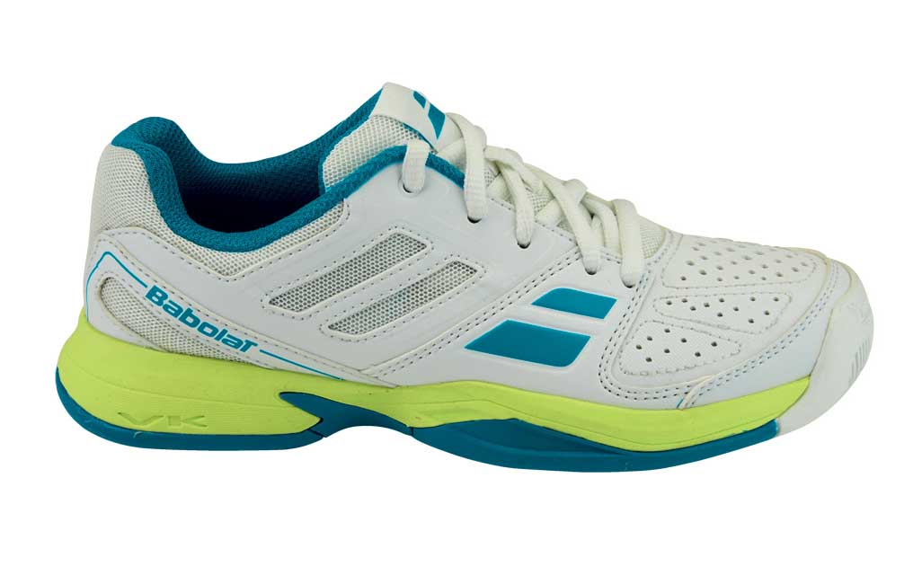 Babolat Pulsion All Court Kid White/Blue 33,5
