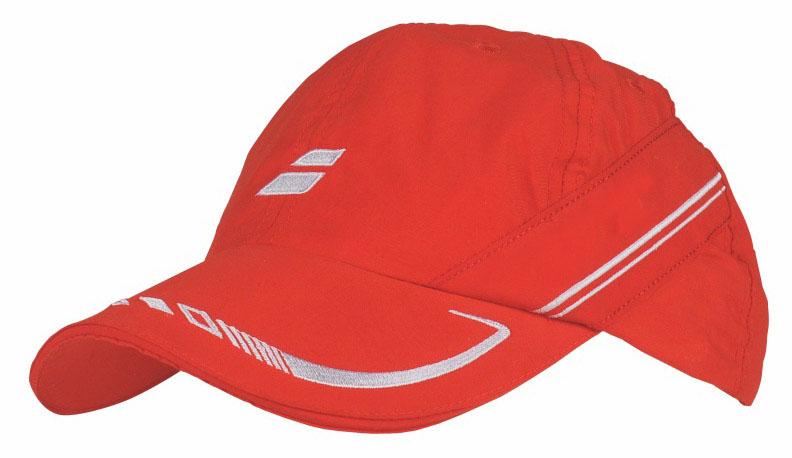 Babolat Cap IV 2015 červená - prodyšná čepice na tenis