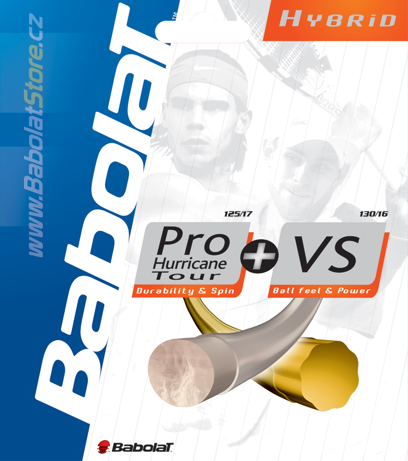Babolat Pro Hurricane Tour 1,25 + VS 1,3