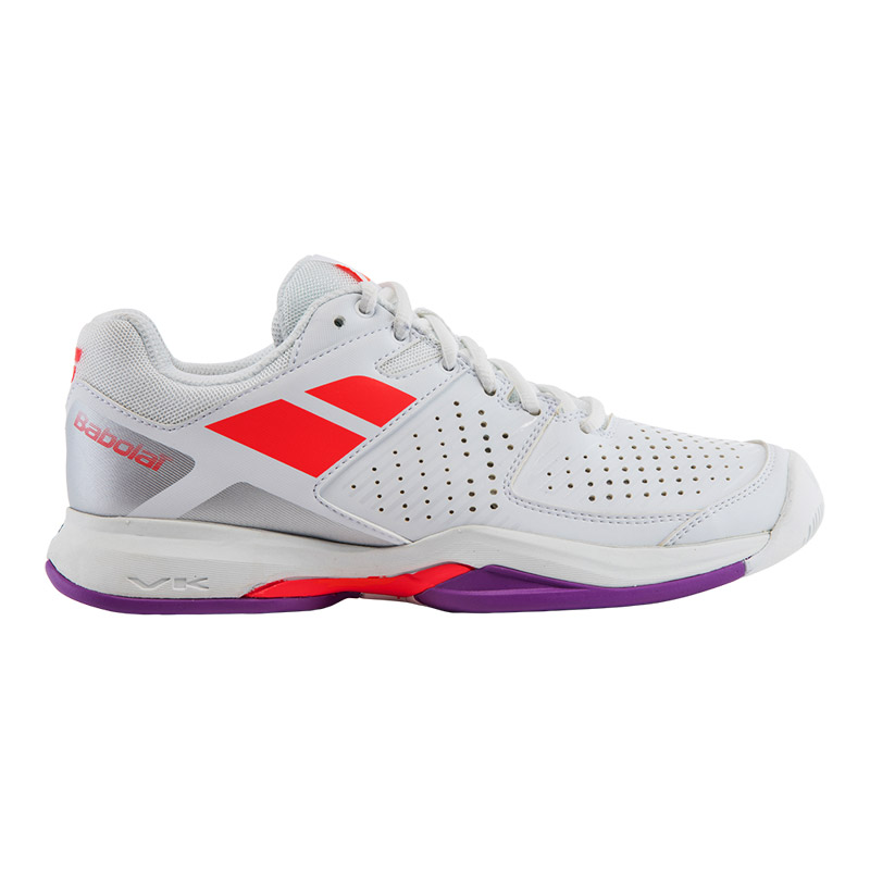 Babolat Pulsion Clay Women White/Fluo Red 39