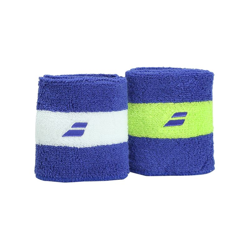 Babolat Jumbo Wristband X2 Blue/Yellow 2017