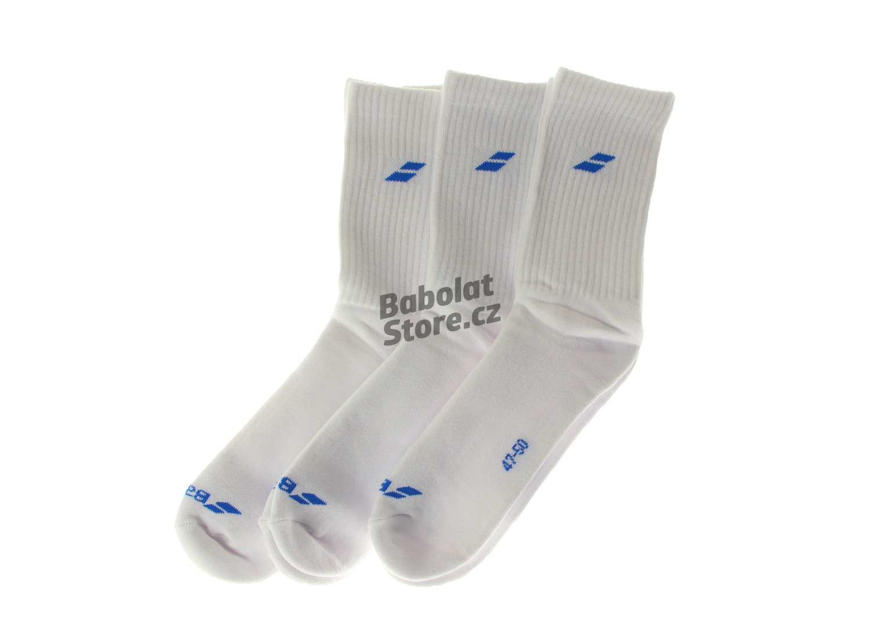 Babolat Ponožky 3 Pairs Pack White/Blue 47/50