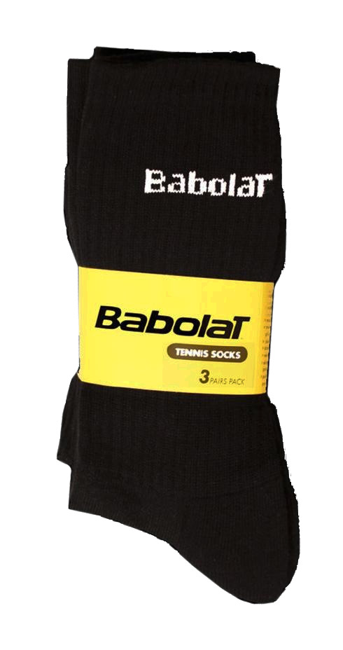 Babolat ponožky černé - 3 páry 47/50