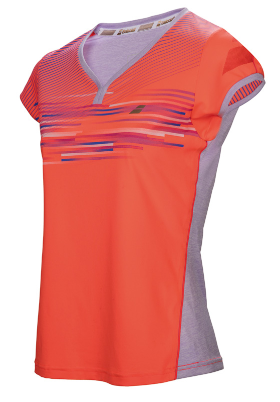 Babolat Cap Sleeve Top Girl Performance Fluo Red 2017 128