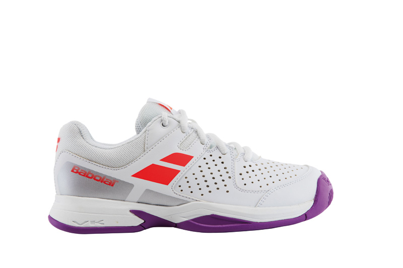 Babolat Pulsion All Court Junior White/Fluo Red 35