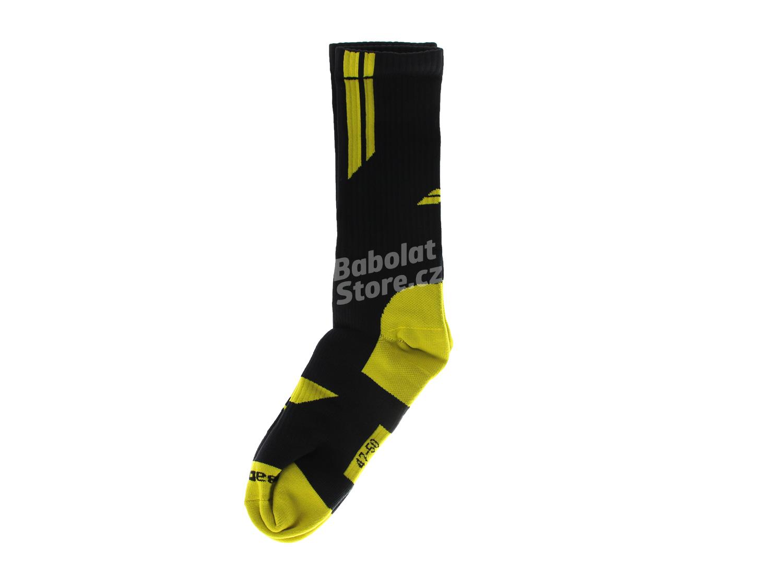 Babolat Ponožky Team Big Logo Black/Yellow 43/46
